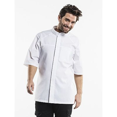 Chaud Devant CHEF JACKET SALERNO SFX WHITE SHORT SLEEVE (CHA923)