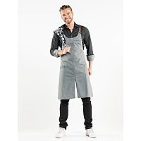 Chaud Devant BIB APRON FORENE CROSS GREY DENIM W75-L90 (CHA63399)