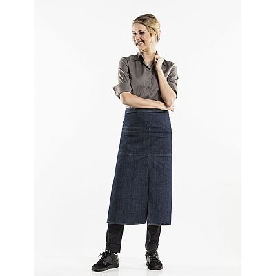 Chaud Devant Apron 4 pockets Blue Denim (CHA865)