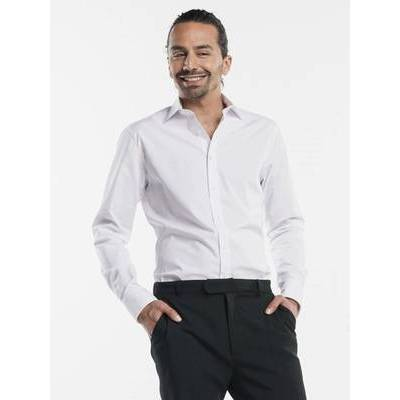 Chaud Devant Serve EleganceBlouse Man White Stretch (CHA614)