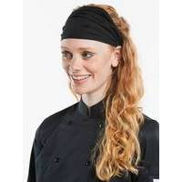 Chaud Devant Lady Chef Hat Wrap Black (CHA367)